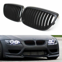 Black Convertible Kidney Grill Grilles For BMW E92 E93 M3 3Series Coupe Pre-LCI