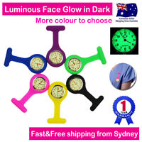 Nurse Watch FOB Silicone Tunic Pocket for Pouch Brooch Pin Battery Luminous Face