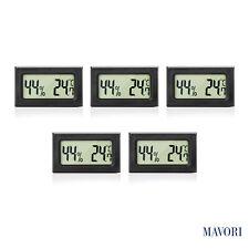 MAVORI® Digital Mini LCD Hygrometer und Thermometer - 5er Set (NEUES MODELL)