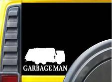 "Garbage Man sticker L229 8"" vinyl trash truck decal"