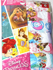 Disney Princess Girls  Panties 7 Pieces Size 6