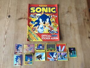 OFFICIAL PANINI SONIC THE HEDGEHOG STICKER ALBUM WITH POSTER PART FILLED
