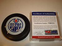 Jordan Eberle Signed Edmonton Oilers Hockey Puck Autographed PSA/DNA COA e
