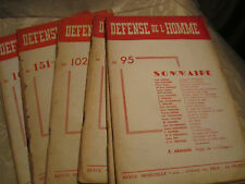 RARE Lot of DEFENSE DE L'HOMME French Anarchist Individualist Stirnerite Journal