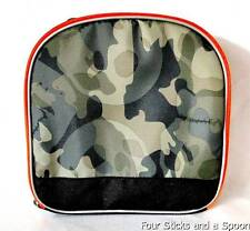 """""""NWT"""" The Children's Place Student Camouflage Green Skull Graphic Lunch Box"""
