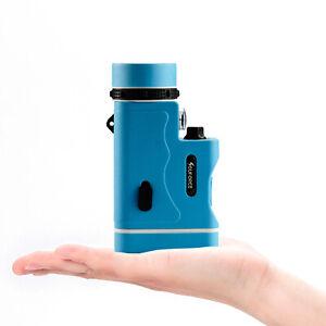 10x30 Zoom Mini Telescopes Night Vision Blue Monocular W/ Lamp Waterproof