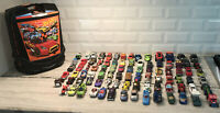 Hot Wheels Matchbox Wheeled Rolling Carrying Case w/ Lot Of 88 Cars Vintage