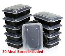 20 Pièce Micro-ondes Lave-vaisselle plastique Lunch Box Stockage Des Aliments Re...