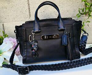 RARE Coach 38095 Swagger RIP N REPAIR Leather purse satchel crossbody handbag