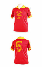 ZAIRE LEOPARDS RED 1974 WORLD CUP NUMBER 5 FOOTBALL SHIRT XL