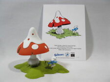 Kunstharzfigur Schlumpf mit Pilz  Fa.  Fariboles   limitiert  resin smurf