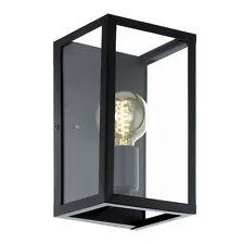 Applique vintage nero con vetro trasparente a 1 luce GLO 49394 Charterhouse