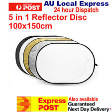 "Studio Photo Collapsible 5 in 1 100 x 150cm 40"" x 60"" Oval Reflector Reflectors"