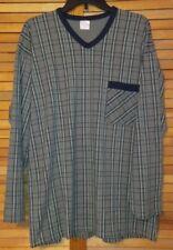 SCHIESSER MEN'S SHIRT XL GREEN YELLOW BLUE PLAID LONG SLEEVES POCKET