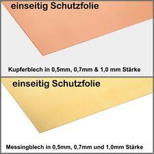 Kupferblech Messingblech 0,5 mm, 0,7mm 1,0 mm Messing Kupfer KOSTENLOSER VERSAND