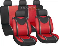 Seat sitzbezüge Seat Covers Seat Cover Protector Red SET FOR MANY VEHICLES