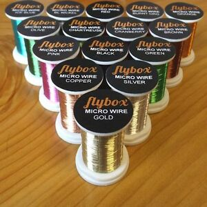 Textreme FLYBOX Micro Wire 0.09mm  For Fly Tying Per Spool * New 2021 STOCKS *