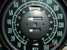 Corvette 68-71 New 160MPH speedometer face WITH Kilometers