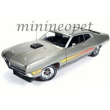 AUTOWORLD AMM1074 AMERICAN MUSCLE 1971 FORD TORINO GT 1/18 LIGHT GREEN METALLIC