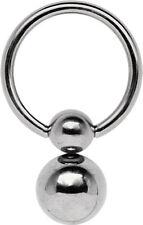 Titan Piercing Schmuck BCR Brust Intim Bauch Ring in 1,6mm mit Doppel-Klemmkugel