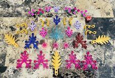 LEGO 56pc Friends Elves Flower Plant Lot Gold Purple Trans Pink Leaves Garden