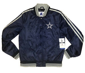 Dallas Cowboys Starter Jacket Overtime Full-Snap Navy Women's Size S Small NWT