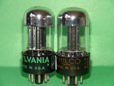 2 Sylvania Philco 6SN7 GTB Vacuum Tubes Very Strong & Balanced