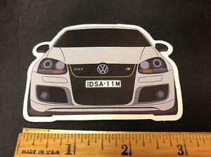 Sticker VW Volkswagen Golf GTI MK5 2003 2004 2005 2006 2007 2008 2009 2010