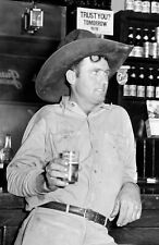 "1939 Cowboy in Beer Parlor Alpine TX Vintage Photograph - 11"" x 17"" Reproduction"