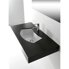 Lavandino Lavabo Sottopiano Design Moderno Aral Mini in ceramica bianco 62x39 cm