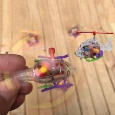 Mini Transparent Small Airplane Toy Helicopter Clockwork Mini Toys