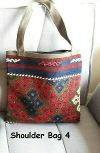 Vintage Turkish Moroccan Kilim Ladies Shoulder Bag Hippie Boho Antique Trib Gift