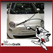 Aufkleber/ Sticker/ Reißverschluss / Dekor/ Fiat 500 / #077
