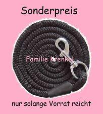 Führstrick schwarz Snapkarabiner Anbindestrick Führleine Strick Leine NEU #7103