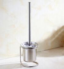 Free Standing Bathroom Toilet Brush Holder Set Stainless Steel Chrome Polished