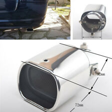 63mm Curved Chrome Car Exhaust Tip Tail Rear Muffler Pipe Stainless Steel Silver