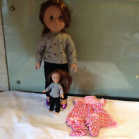 """18"""" SINDY DOLL  LAURA (STYLE OF DESIGN A FRIEND)  matching small doll"""