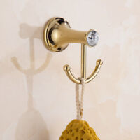 Stainless Steel Wall Hook Towel Holder Bathroom Accessories Hanger Chrome Gold