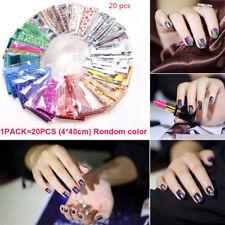 20 Holographic Nail Foils Starry Sky Glitter Foils Nail Art Transfer Sticker Set