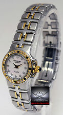 Raymond Weil Parsifal 18k Gold & Steel & Diamonds Ladies Watch Box/Papers 9690