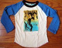 New Rowdy Sprout Nirvana Vintage Inspired Kids Long Sleeve Raglan Shirt