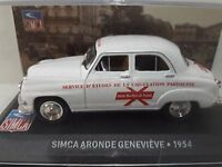1/43 CAL383 SIMCA ARONDE GENEVIEVE 1954 BLANCO