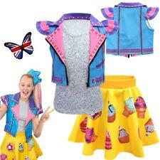 Girls Fancy Dress Jojo Siwa Cosplay Costume Waistcoat Skirt Dress Vest Outfit UK