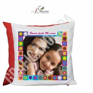 FESTA DELLA MAMMA Cuscino Quadrato con FOTO PERSONALIZZATA miglior mamma regalo
