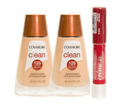 Covergirl Clean Foundation 2 Pack! Bonus Cherry Gloss!! - Multiple Shades