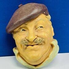 Bosson Legend Chalkware face bust figurine wall hanging France French painter