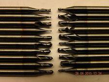 L#1c x20 miniature carbide milling cutters ballnosed & slot drills all different