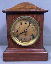 Antique ART DECO Era SETH THOMAS Old VENEER Wood MANTEL Madmen OFFICE CLOCK