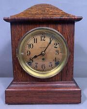 New ListingAntique Art Deco Era Seth Thomas Old Veneer Wood Mantel Madmen Office Clock