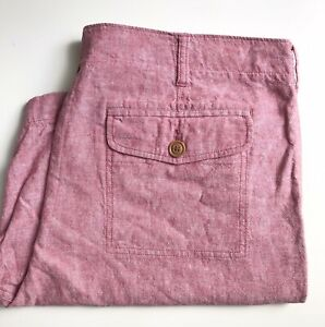 J. Crew Shorts, Red Chambray, Size 38, 9-inch Inseam, Exc Cond